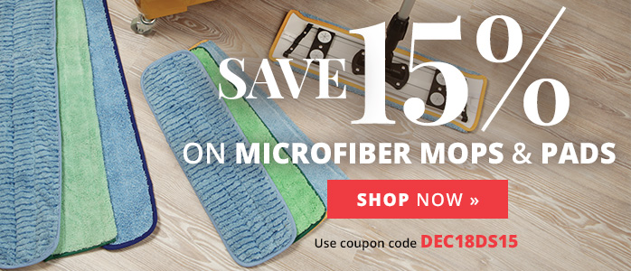 Save 15% on Microfiber Mops & Pads