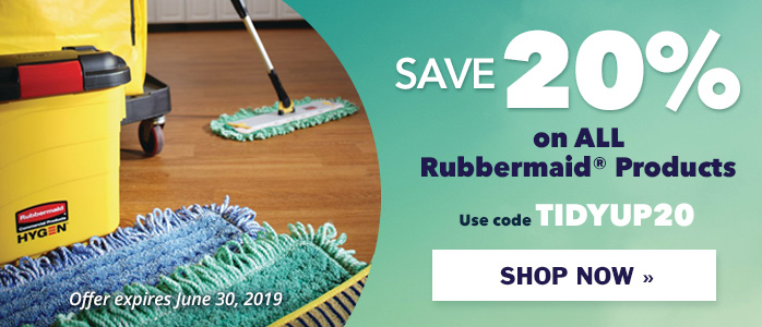 Save 20% on ALL Rubbermaid Products