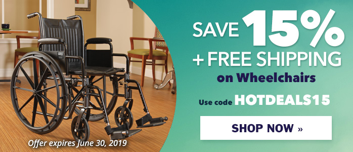 Save 15% + Free Shipping on Wheelchairs