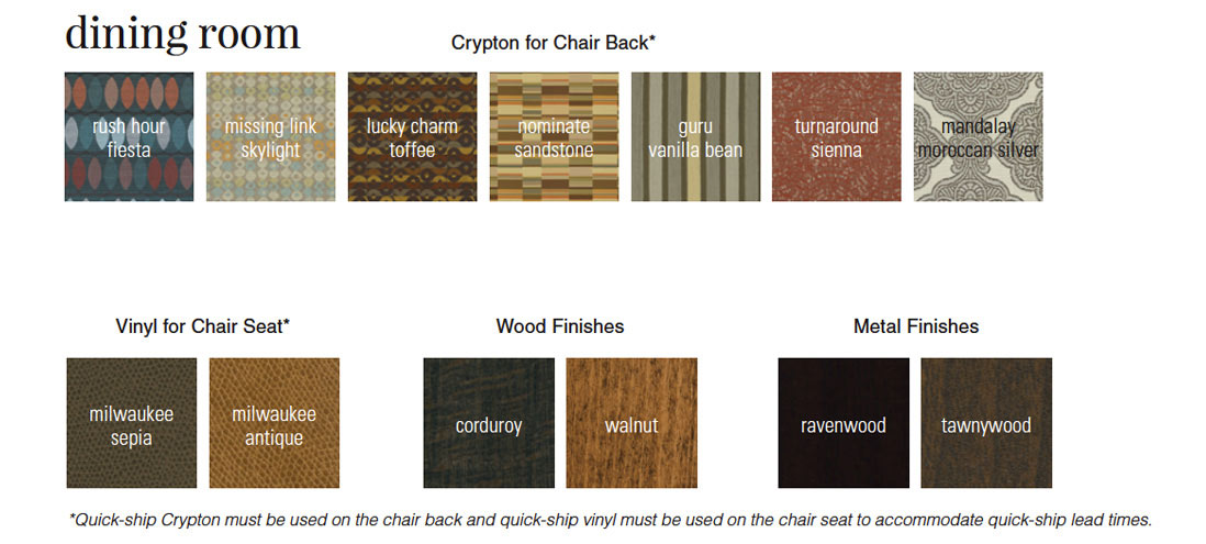 Fabrics & Finishes