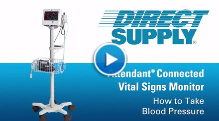 Attendant Vital Signs Monitor Blood Pressure